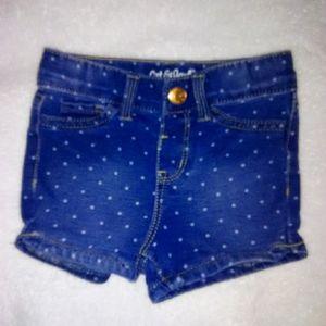 5/$10 Cat & jack baby girl shorts size 18m